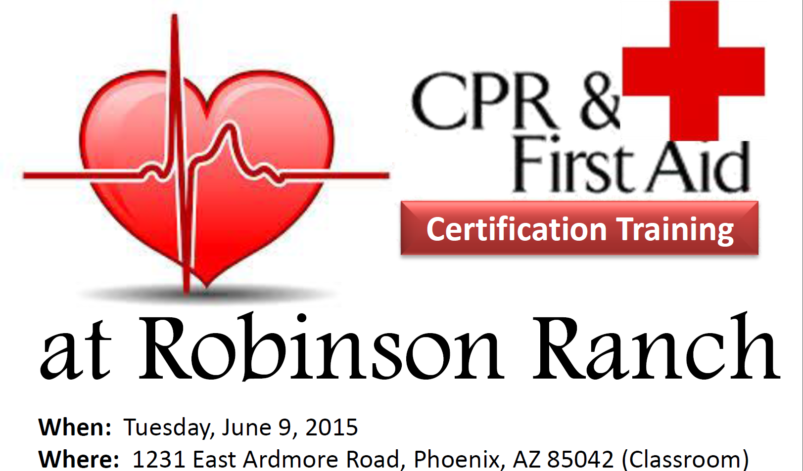 Cpr and first aid certification training robinson ranch cpr and first aid certification training 1betcityfo Gallery